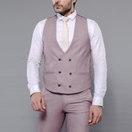 Trent 3-Piece Slim Fit Suit // Burgundy (Euro: 54)