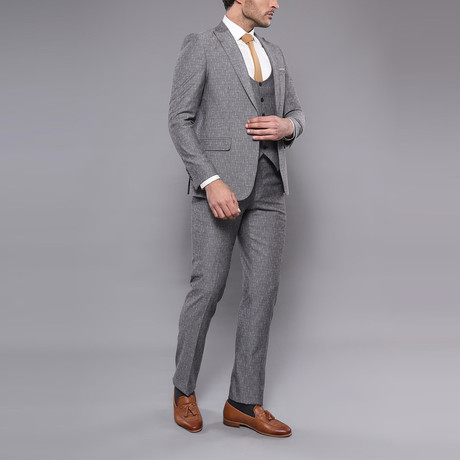 Javion 3-Piece Slim-Fit Suit // Gray (Euro: 44)
