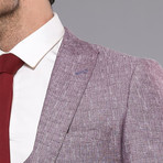 Yael 3-Piece Slim-Fit Suit // Burgundy (Euro: 52)