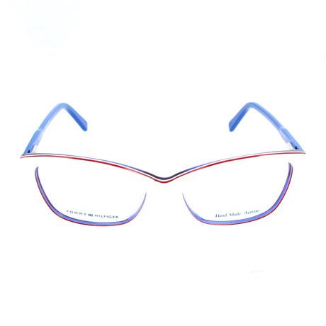 Women's 1318-VN6 Optical Frames // White + Red + Blue