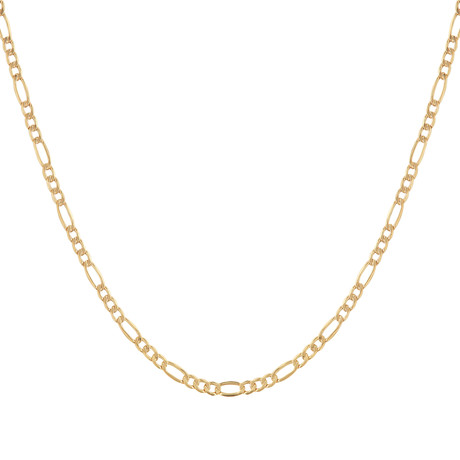 "Solid 10K Yellow Gold Figaro Chain Necklace // 5.4mm (24"")"