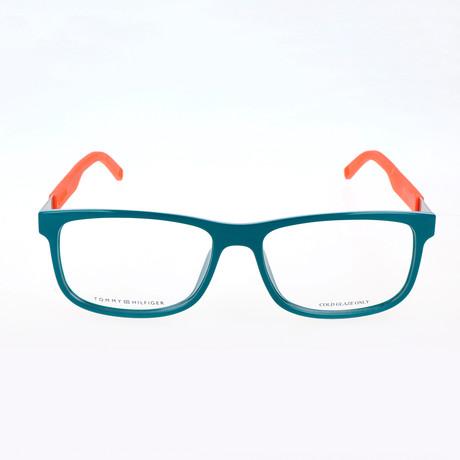 Men's 1446-LGP Optical Frames // Green + Orange