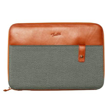 The Business Zip Portfolio Bag // Blue + Navy
