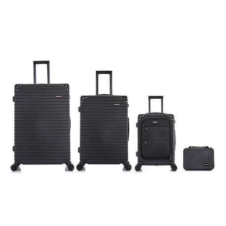 Tour // Lightweight Luggage // 4 Piece Set (Black)