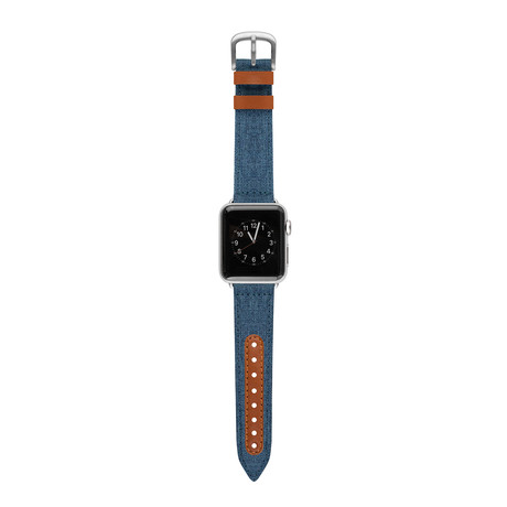 Apple Watch Band // Heathered Blue + Brown