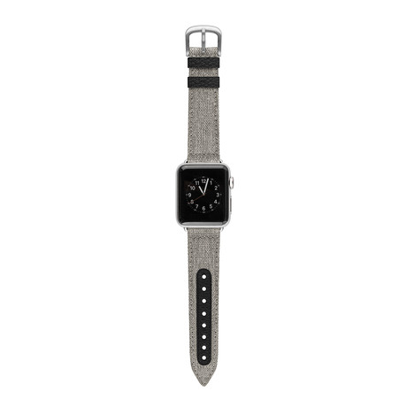Apple Watch Band // Canvas + Black (38mm)