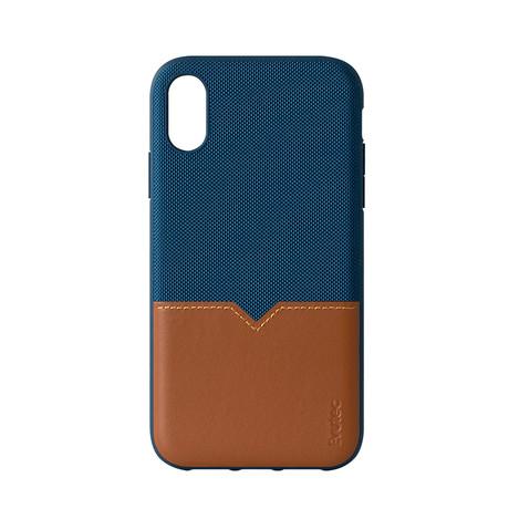 iPhone Case // Blue + Saddle (6/6S/7/8)