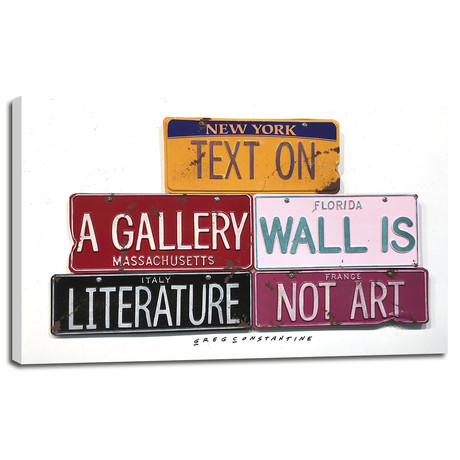 "Text On Gallery Wall (12""W x 8""H x 0.75""D)"
