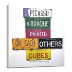 "Picasso & Braque (8""W x 10""H x 0.75""D)"