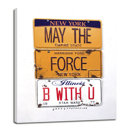 "May The Force // Ford (8""W x 10""H x 0.75""D)"