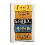 "Superficial Person // Warhol (6""W x 12""H x 0.75""D)"