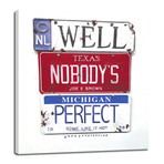 """Nobody's Perfect // Brown (8""""W x 10""""H x 0.75""""D)"""