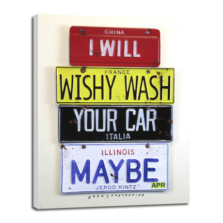 "Wishy Wash Your Car // Kinz (5""W x 7""H x 0.75""D)"