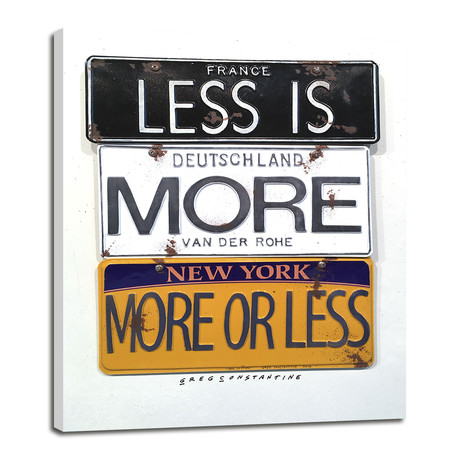 "Less Is More // Mies (8""W x 10""H x 0.75""D)"