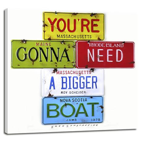 """Bigger Boat // Scheider (12""""W x 12""""H x 0.75""""D)"""