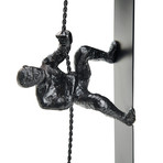Self Standing Climbing Man // Iron Sculpture