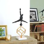 Gymnast Sculpture // Copper + Resin