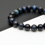 Tiger Eye Beaded Bracelet // Blue