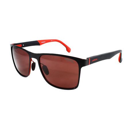 Men's 8026S Polarized Sunglasses // Matte Black + Red