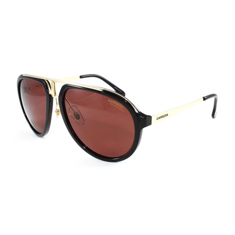 Carrera // Men's 1003S Polarized Sunglasses // Black + Gold