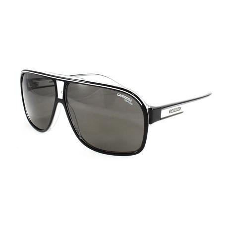 Carrera // Men's Grand Prix Polarized Sunglasses // Black + Crystal White