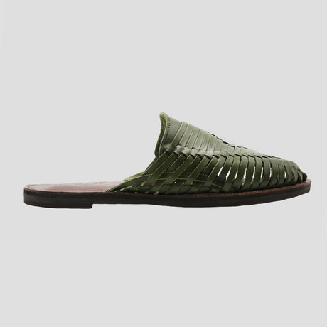 Dry Huarache Slide // Olive Green + Brown Insole (US Size 8)