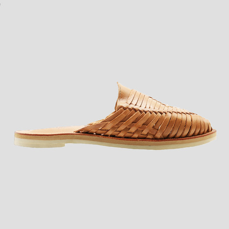 Sol Huarache Slide // Tan + Red Insole (US Size 8)