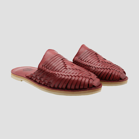 Severus Huarache Slide // Red + Red Insole (US Size 8)