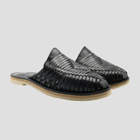 Moon Huarache Slide // Black + Black Insole (US Size 8)
