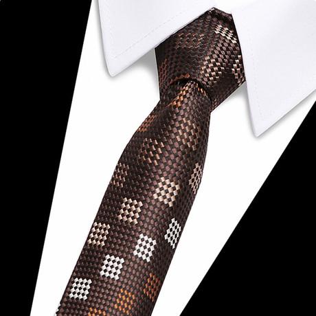 Neck Tie // Brown Futuristic Design