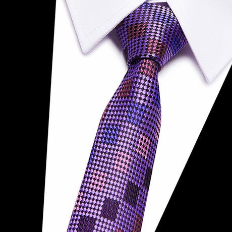 Neck Tie // Purple Futuristic Design
