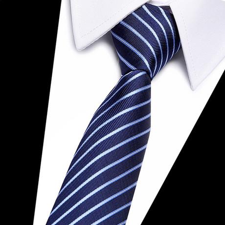 Neck Tie // Navy Blue Stripe