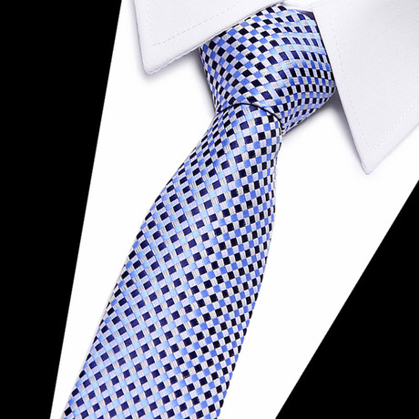 Neck Tie // Light Blue + Navy Stripe