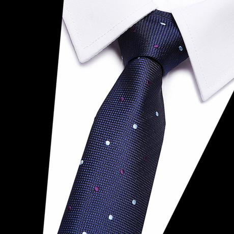 Neck Tie // Navy Patterned
