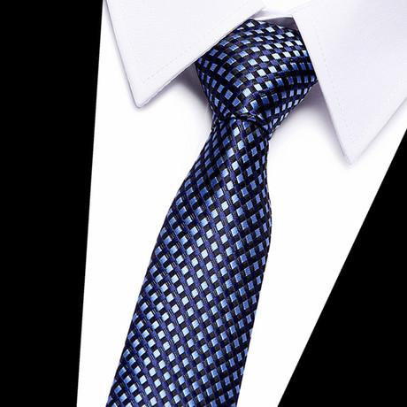 Neck Tie // Navy Blue Mini Stripe