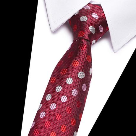 Neck Tie // Red Polka Dots