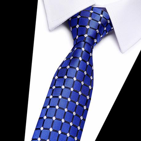 Neck Tie // Blue Grid Design