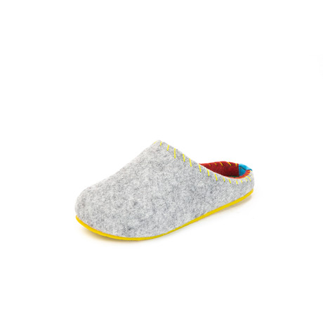 Pine House Slipper // Gray + Yellow Sole (Euro: 36)