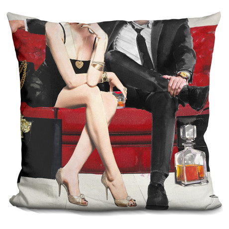 "Date Night Throw Pillow (16"" x 16"")"