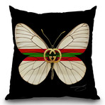 """Fly Like Butterfly G Throw Pillow (16"""" x 16"""")"""