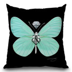 "Fly Like Butterfly T Throw Pillow (16"" x 16"")"