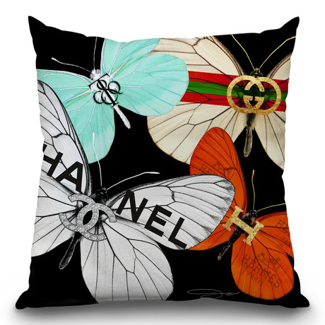 "Fly Couture Throw Pillow (16"" x 16"")"