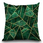 """Deep Emerald Throw Pillow (16"""" x 16"""")"""