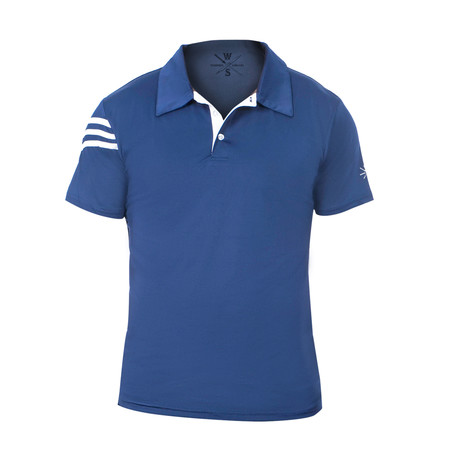 Driver Fitness Tech Polo // Navy Blue (S)