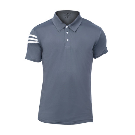 Driver Fitness Tech Polo // Steel Blue (S)