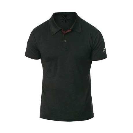Courtside Dry Fit Fitness Tech Polo // Black (S)