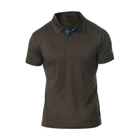 Courtside Dry Fit Fitness Tech Polo // Charcoal (S)