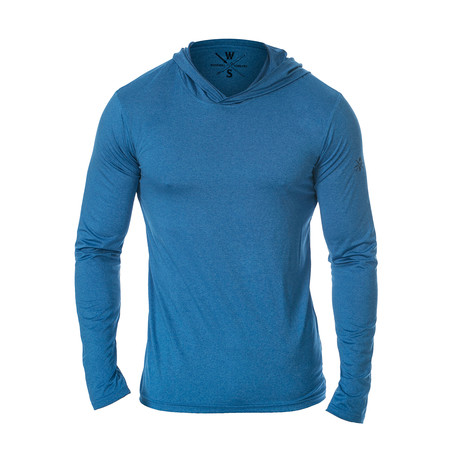 Method Dry Fit Tech Hoodie // Blue (S)