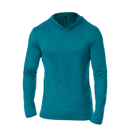 Method Dry Fit Tech Hoodie // Ocean Blue (S)