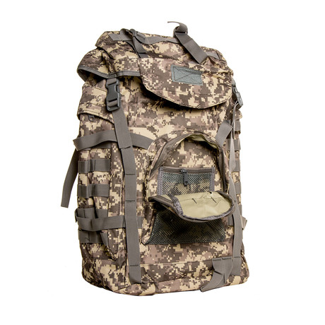 Something Oversized Backpack // Camo + Gray